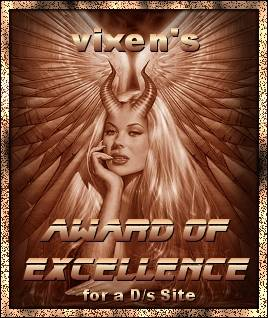 Vixen's Award Of Excellence For A D/s Site: Linked To Her Site